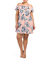 Plus Juniors Floral Heather Dress