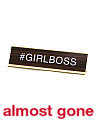 Girl Boss Veneer Desk Sign