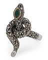 Made In Thailand Silver And 14k Snake Marcasite Ring