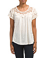 Made In Italy Lace Front Top