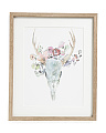 16x20 Boho Skull Framed Watercolor Print