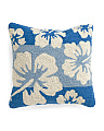 18x18 Indoor Outdoor Hibiscus Pillow