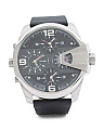 Men's Chronograph Uber Chief Leather Strap Watch