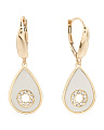Made In Italy 14k Gold Flower Mother Of Pearl Earrings