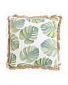 20x20 Watercolor Palm Leave Pillow