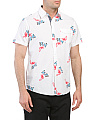 Short Sleeve Art Deco Woven Shirt