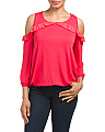 Made In USA Cold Shoulder Top