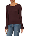 Merino Wool Bell Sleeve Sweater