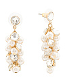 Crystal And Pearl Shakey Earrings