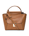 Made In Italy Bar Top Leather Satchel