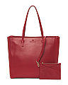Made In Italy Leather Shopping Tote