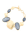 Made In Bali 14k Gold Plate Silver And Kyanite Bracelet