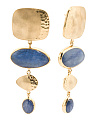 Made In Bali 14k Gold Plate Silver Kyanite Drop Earrings