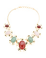 Made In Bali 14k Gold Plate Silver Multi Gemstone Necklace