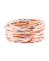 Made In Bali 14k Rose Gold Plate Silver Wrapped Band Ring