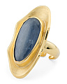 Made In Bali 14k Gold Plated Silver And Kyanite Knuckle Ring