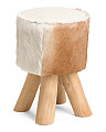 Leather Cowhide Stool
