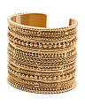 14k Gold Plated Laura Texture Cuff Bracelet