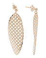 Made In Italy 14k Gold Oval Cutout Diamond Cut Earrings