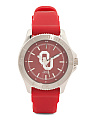 Women's Oklahoma Sooners Silicone Strap Watch
