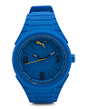 Gummy Blue Rubber Strap Sport Watch