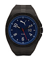 Men's Blue Dial Rubber Strap Sport Watch