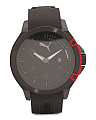 Men's Pioneer Black And Red Silicone Strap Watch