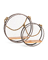 Set Of 2 Mesh Basket Shelves