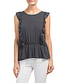 Juniors Made In Usa Ruffle Top