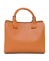 Made In Italy Leather Two Handle Tote