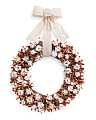 20in Cotton Wreath