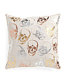 20x20 Metallic Skulls Foil Pillow