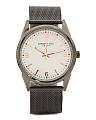 Men's Mesh Strap Watch In Gunmetal