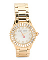Women's Baguette Crystal Bezel Watch