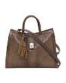 Made In Italy Snake Embossed Leather Tote