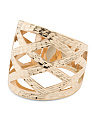 Made In Italy 14k Gold Basket Weave Ring