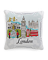 20x20 London Landmarks Pillow