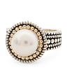 Made In Thailand 14k Gold And Sterling Silver Pearl Beaded Ring