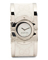 Women's Swiss Made Twirl Interlocking G Logo Bangle Watch