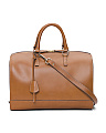 Made In Italy Full Zip Leather Satchel