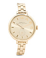 Women's Sally Thin Bracelet Strap Watch In Gold Tone