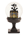 Led Haunted House Water Globe