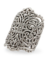 Made In Israel Sterling Silver Filigree Cigar Band Ring