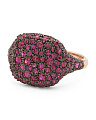 14k Rose Gold Ruby Pave Ring
