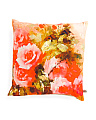 Made In India 20x20 Floral Print Pillow
