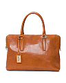 Made In Italy Leather Laptop Work Bag