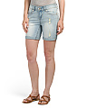 Destructed Rolled Bermuda Shorts