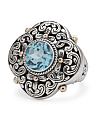 Made In Bali 14k Gold Sterling Silver Blue Topaz Ring