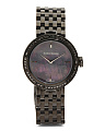 Women's Swiss Made Diamond Bezel Black Bracelet Watch