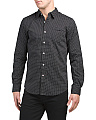 Slim Fit Stretch Neat Print Shirt